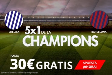 Suertia 5x1 Champions hastsa 30€ gratis