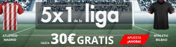 Suertia 5x1 la Liga hasta 30€ gratis