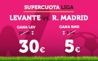 Supercuota Wanabet la Liga Levante - R. Madrid