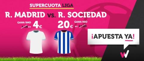 Supercuota Wanabet la Liga R. Madrid vs R. Sociedad