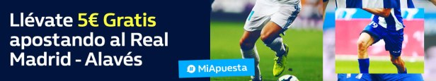 Williamhill 5€ gratis apostando al Real - Madrid Alavés