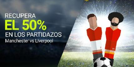 Luckia seguro del 50% en Manchester vs Liverpool