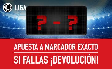 Noticias Apuestas Sportium la Liga Apuesta a Marcador exacto si fallas ¡Devolución!