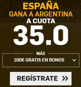 noticias apuestas Supercuota Betfair España - Argentina