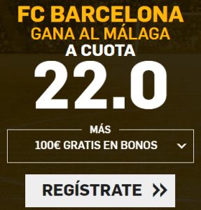 Supercuota Betfair la Liga FC Barcelona - Málaga