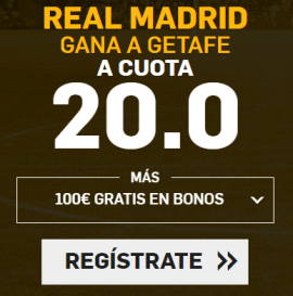 Supercuota Betfair la Liga Real Madrid - Getafe