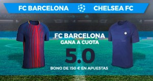 Supercuota Paston Champions League FC Barcelona - Chelsea FC