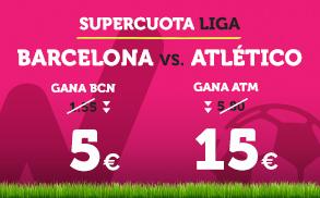 Supercuota Wanabet la Liga Barcelona - Atlético