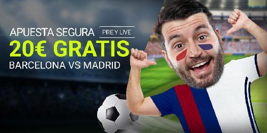 noticias apuestas Luckia Clásico Barcelona vs Madrid 20€ gratis