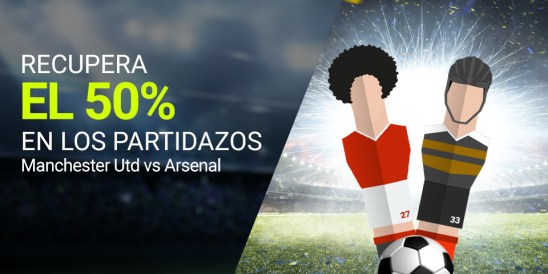 Luckia Premier League Manchester - United Arsenal recupera 50%