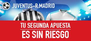 Sportium Champions Juventus - R. Madrid Segunda apuesta sin riesgo