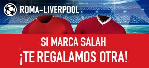noticias apuestas Sportium Champions League Roma-Liverpool: Si marca Salah... ¡Devolución!