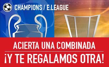 noticias apuestas Sportium Champions y E.League: Acierta una combinada ¡Y te regalamos otra!