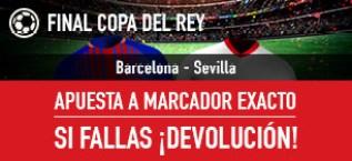 Noticias apuestas Sportium Sevilla-Barcelona: Apuesta a Marcador Exacto y si fallas: ¡Devolución!
