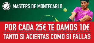 Sportium Masters de Montecarlo por cada 25€ te damos 10€