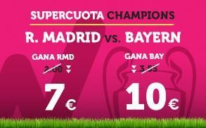 noticias apuestas Supercuota Wanabet Champions League R. Madrid - Bayern