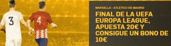 noticias apuestas BETFAIR MARSELLA - ATLÉTICO DE MADRID FINAL DE LA UEFA EUROPA LEAGUE, APUESTA 20€ Y CONSIGUE UN BONO DE 10€