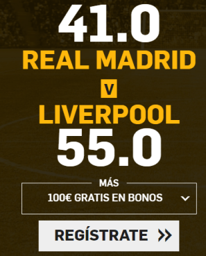 noticias apuestas Supercuota Betfair Champions League Real Madrid - Liverpool
