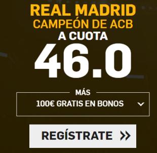 noticias apuestas Supercuota Betfair Real Madrid Campeón de ACB