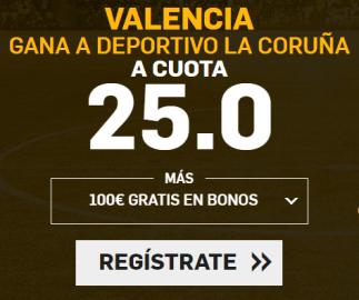 Noticias apuestas Supercuota Betfair la Liga Valencia - Deportivo la Coruña