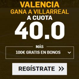 noticias apuestas Supercuota Betfair la Liga Valencia - Villarreal