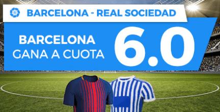 noticias apuestas Supercuota Paston la Liga Barcelona - Real Sociedad