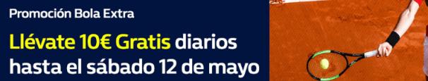 noticias apuestas William hill Tenis Llévate 10€ gratis diarios hasta el 12 de Mayo