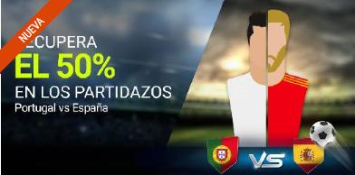 noticias apuestas Luckia Portugal vs España recupera el 50%