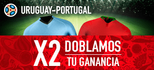 Noticias apuestas Sportium Uruguay - Portugal Doblamos tu ganancia