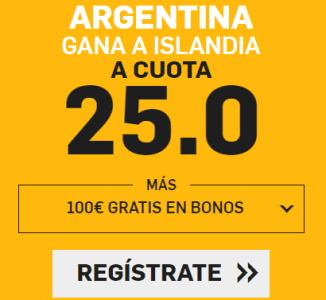 noticias apuestas Supercuota Betfair Mundial Argentina - Islandia