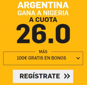 noticias apuestas Supercuota Betfair Mundial Argentina - Nigeria