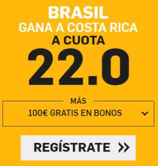 noticias apuestas Supercuota Betfair Mundial Brasil - Costa Rica