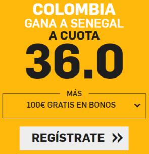 noticias apuestas Supercuota Betfair Mundial Colombia - Senegal