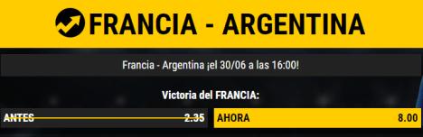 noticias apuestas  Supercuota Bwin Francia - Argentina
