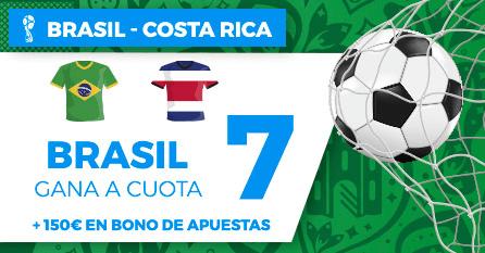 noticias apuestas Supercuota Paston Mundial Brasil - Costa Rica