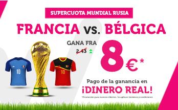 noticias apuestas Supercuota Wanabet Mundial Francia vs Bélgica