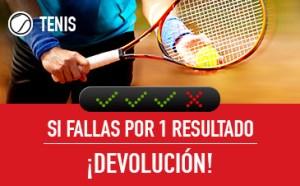 Tenis si fallas por un resultado devolucion en Sportium