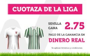 Cuotaza de la liga Sevilla gana 2.75 en Wanabet