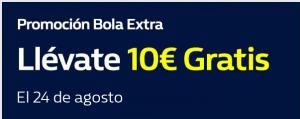 Promocion bola extra,llevate 10€ gratis hoy en William Hill