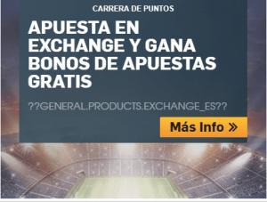 Apuesta en exchange y gana bonos de apuestas gratis en Betfair