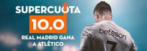 Megacuota 10 Real Madrid gana a At Madrid en Betsson