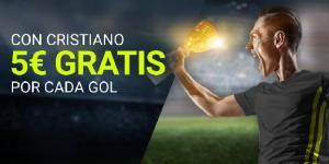 Con Cristiano 5€ gratis por cada gol en Luckia
