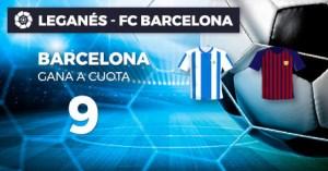Megacuota Leganes v Barcelona,gana Barcelona megacuota 9 solo en Paston
