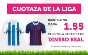 Cuotaza de la liga Barcelona gana a 1.55 en Wanabet