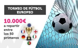 Torneo futbol europeo 10.000€ a repartir entre los 50 primeros en Wanabet