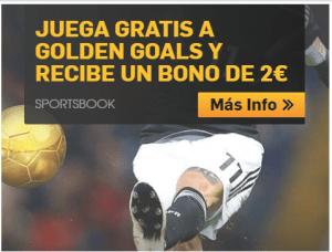 Juega gratis a golden goals y recibe un bono de 2€ en Betfair