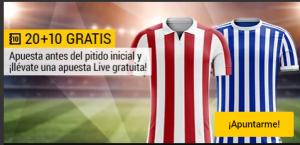 20+10 Atletic-R Sociedad apuesta live gratuita