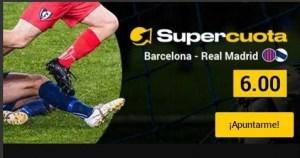 Megacuota 6 Barcelona-R.Madrid gana hasta 50€ en Bwin