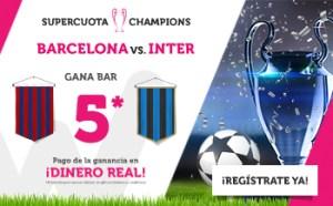 Megacuota 5 Barcelona gana en Champions en Wanabet
