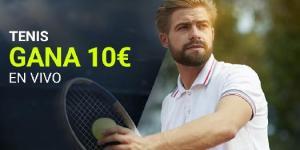 Tenis gana 10€ en vivo con Luckia
